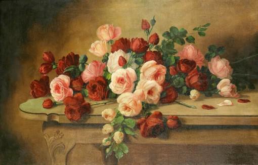 Armando Viana (1897-1992) Rosas - OST - 65x100 - 1952