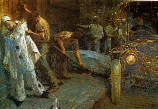 ARTUR THIMOTEO - Carnaval - Óleo sobre tela - 1913 - Coleção particular