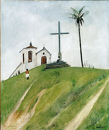 José Pancetti, Igreja do Senhor do Bonfim, 1945,ost, 46x38