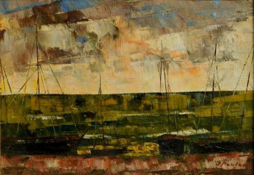 JOSÉ PAULO Moreira da Fonseca (1922 - 2004) Náufrago do sol, o.s.t - 20 x 27 cm.