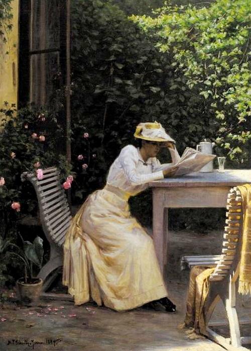 Niels-Frederik-Schiottz-Jensen,(Dinamarca 1855 –1941) no jardim