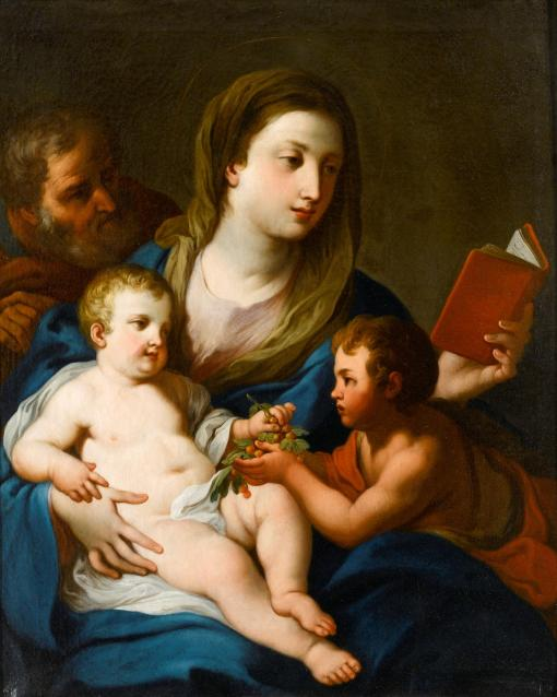 Sebastiano Conca (Gaeta 1680 - Naples 1764) ,The Holy Family with the Infant