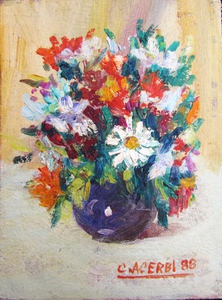 Acerbi, José Carlos - Flores - ost-p - 12 X 9 cm - acid - 1988 -