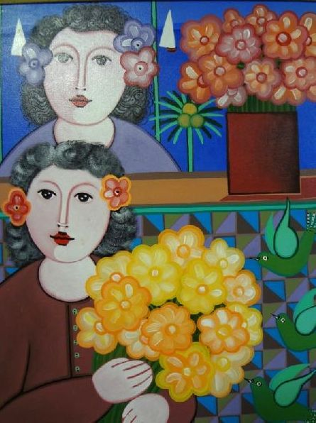 ADELSON DO PRADO (1944) Flores Amarelas, o.s.t. - 61 x 50 cm. Ass. dat. 2002