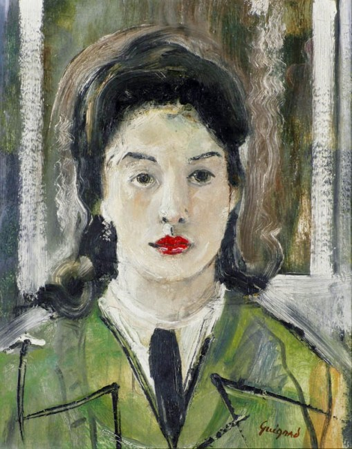 Alberto da Veiga Guignard, A jovem colegial, 1955, osm, 50 x 40cm,Museu de Arte da Pampulha