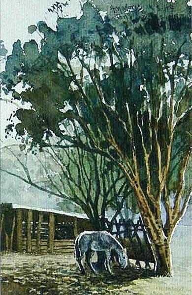 ANDERSON CONDE (Brasil, MG, 1967) Cavalinho, aquarela, 1989,26x15wwwandersoncondecombr