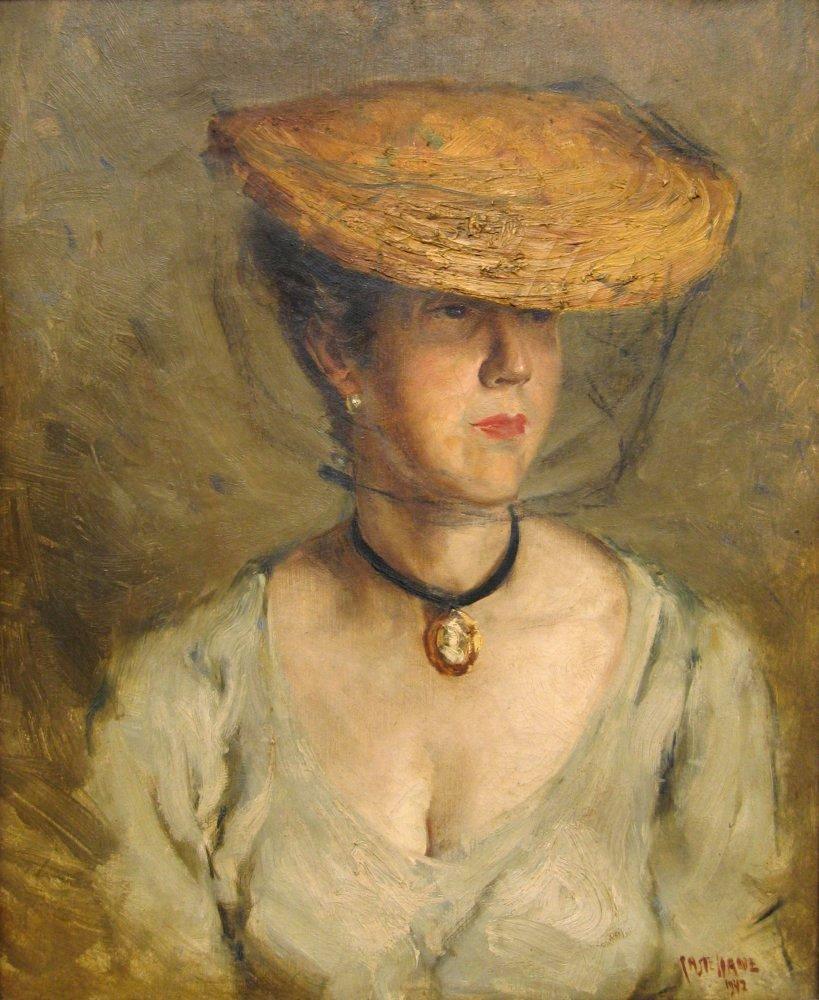 ARLINDO CASTELLANE,Retrato de Adelina, 1942,ost,46 x 38 cm, Instituto de artes, ufrgs