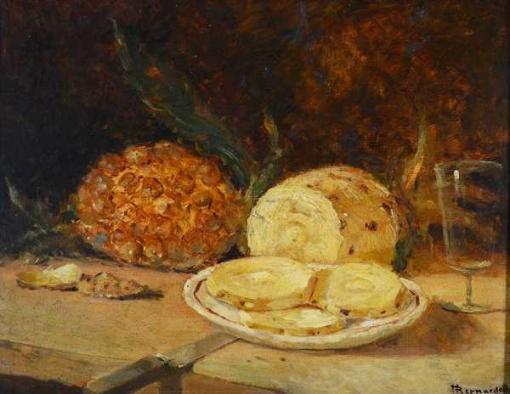 BERNARDELLI (1858 - 1936) - Natureza morta - osc - 38 x 46