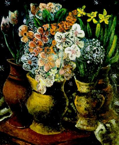 Di Cavalcanti (1897-1976) Vaso com flores, ost, 1936, 0,62x0,60, Palácio Bandeirantes, São Paulo