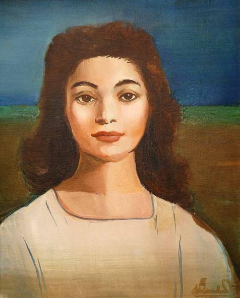DI CAVALCANTI - Retrato feminino - OST  - 70 x 90 cm