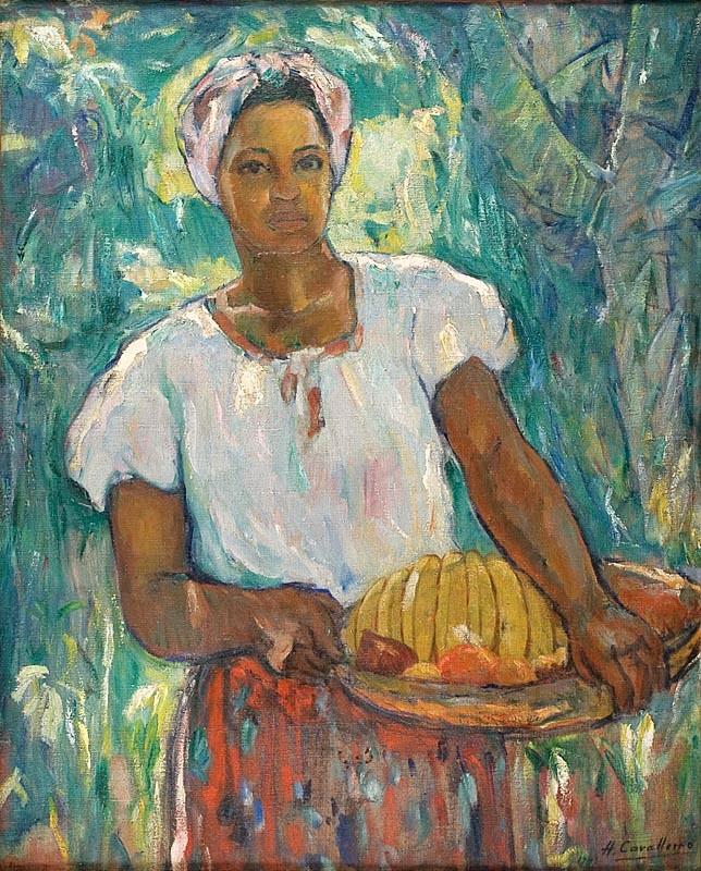 Henrique Cavalleiro,Baiana,1943,ost- 96,5 x 76,5 cm