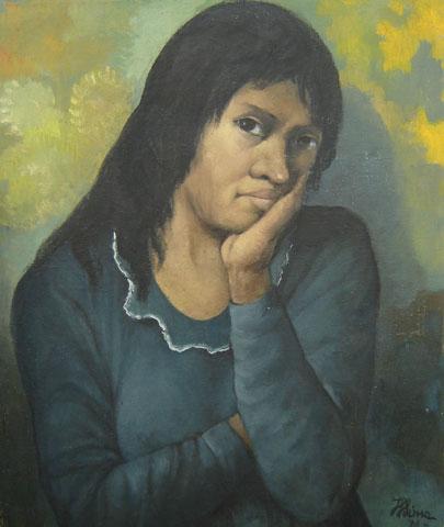 Heros Lima (1916-1987)Mulher(1975)Óleo sobre tela55 x 45 cm