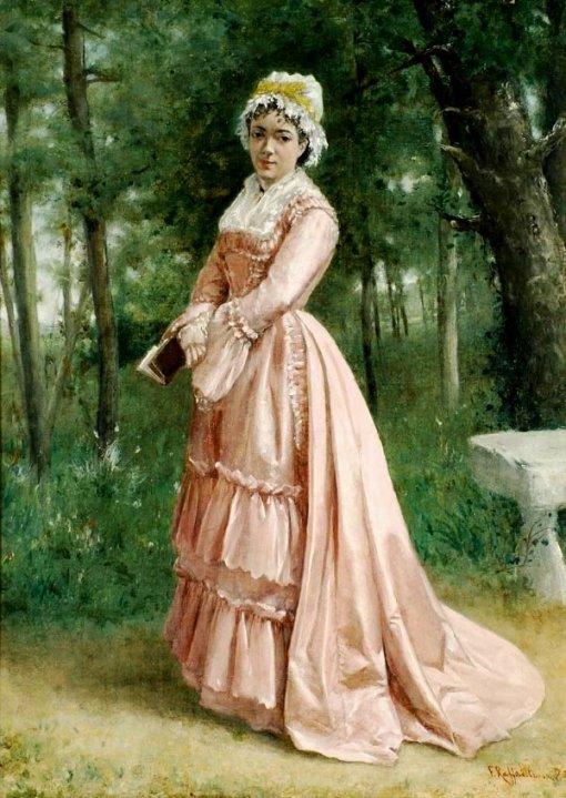 Jean Francois Raffaelli (1850-1924) Lecture au Foret de Fontainebleau Oil on canvas,dated 1872 lower 40.5 x 30.5 cm