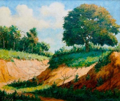 João Baptista da Costa (Brasil,1865-1926)Paisagem, ost, 55 x 46cm