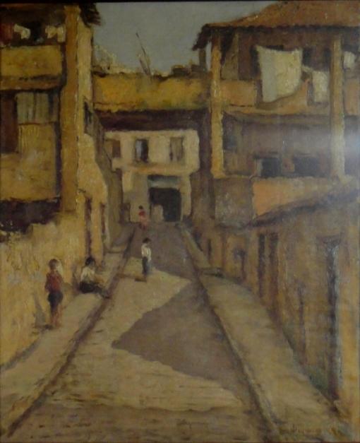 JOSÉ BENEVENUTO MADUREIRA (1903 - 1976)Casario e personagem em Sorocaba - SP,ost, 46 X 38