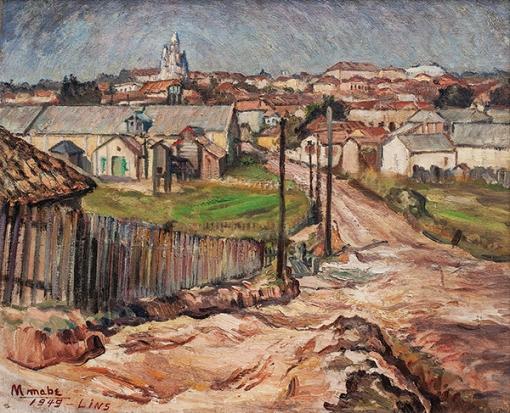 manabu mabe, Paisagem de Lins, óleo sobre tela, 50 x 60 cm, 1949
