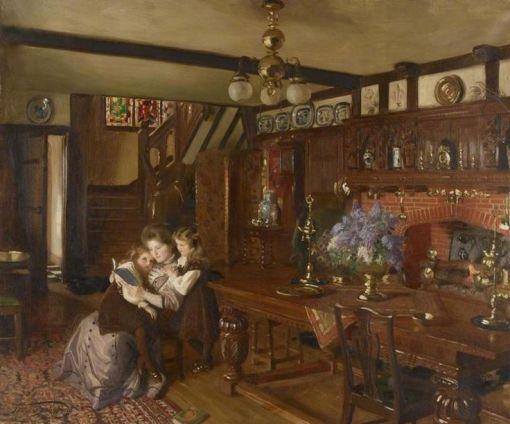Occupations de journées maussades ... Frank O. SALISBURY (1874-1962), Tales of enchantment (1910)