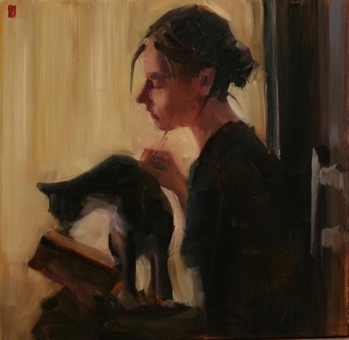 SASHA HARTSLIEF  (4) (Africa da Sul, 1974) Leitura com gato, ost