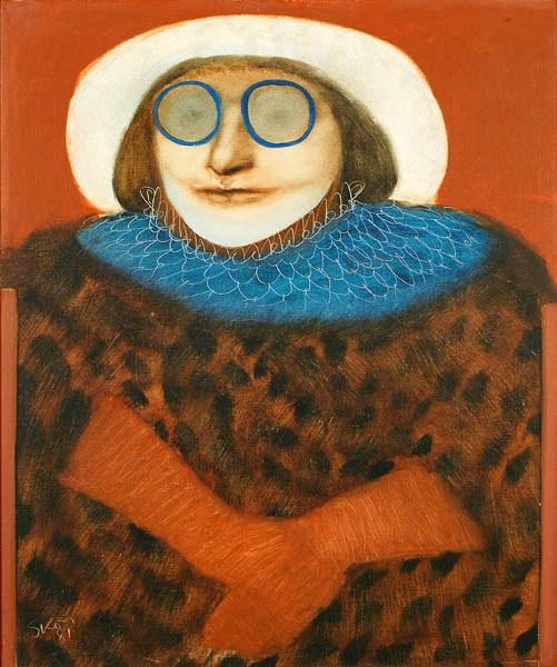 Siron Franco, Uma rainha qualquer, 1981, ost, 50x60