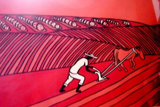 Aldir Mendes de Souza (1941-2007)Arando a terraSerigrafia, 2-100,45 x 65 cm