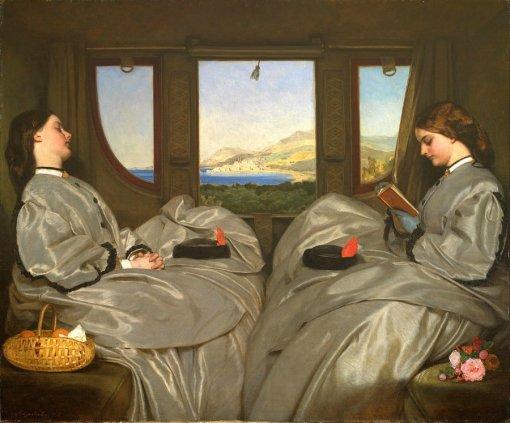 Augustus egg, companheiras de viagem, 1862, ost, birmingham