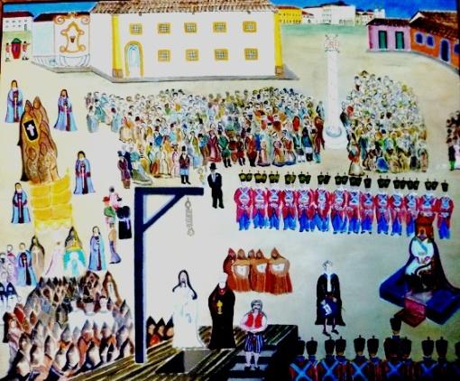 Carlos LOUSADA - O Rebelde óleo stela, 60 x 73cm. Assinado, 1961 e titulado no verso