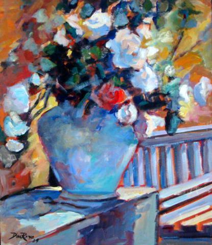 Dias Ramos (1952)Vaso de flores,2004,ost,61 x 51 cm
