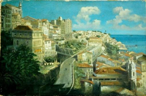 Gustavo Dall`Ara, `Salvador` - ost. - dat. 1919 - med. 39,5 x 59,5 cm