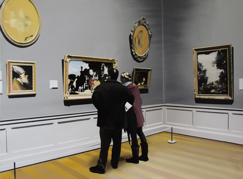 Nicholas Chistiakov, Casal no museu, 2013, ost, 90x120cm, ColPart, GB