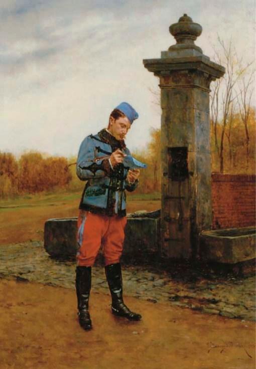 Étienne_Prosper_Berne-Bellecour_-_A_Letter_from_Home