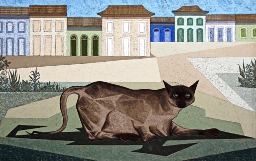 Clóvis Graciano, Gato, 1962, ost, 64 x 100