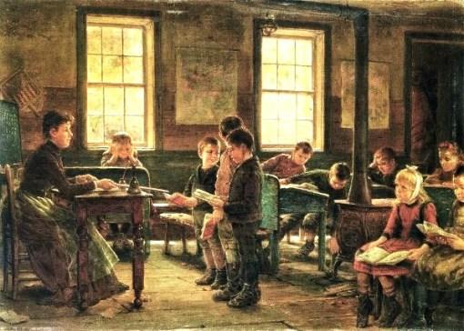 Edward Lamson Henry (American artist, 1841-1913)  A Country School