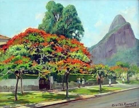 GASTÃO FORMENTI (1894-1974) - Leblon, óleo s tela, 65 X 55.
