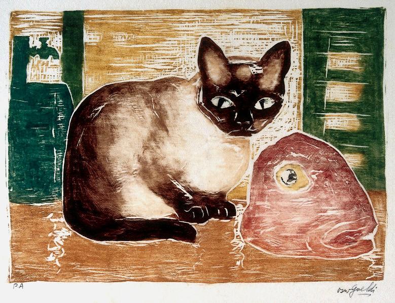 goeldi gato e cabeça de peixe