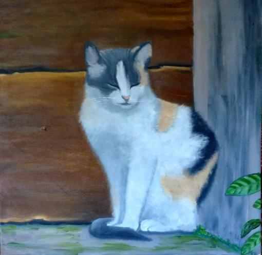 Lucia M Russo Gato,óleo sobre tela - 70 x 70 cm 2013