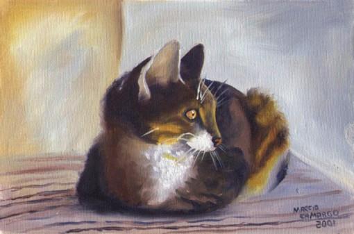 Marcio Camargo, o gato, 2001, 20 x 30cm, ost