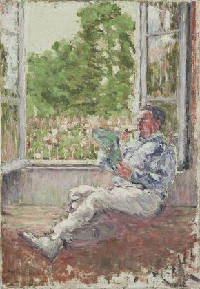 Mrcel Duchamp, homem sentado à janela,