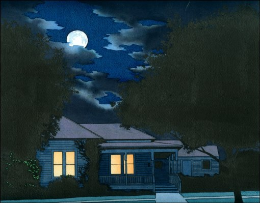 noite, Yan Nascimbene casa