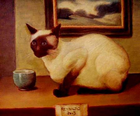 Reynaldo Fonseca (Brasil, 1925)O gato, 2003, ost, 38 x 46
