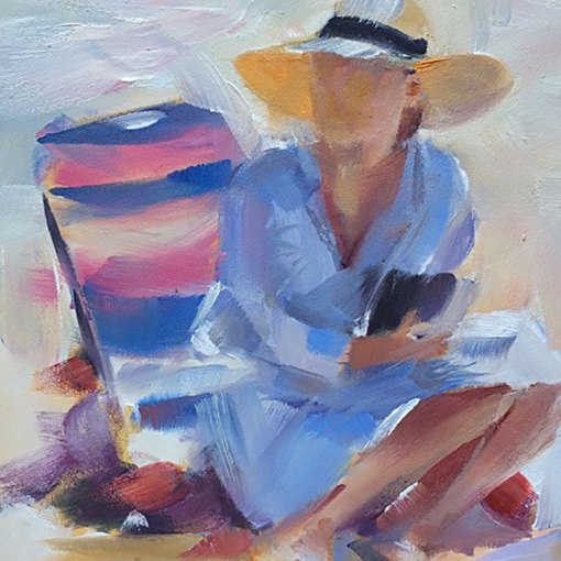 Susan M Stern, woman-at-the-beach