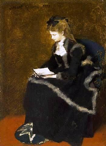 albertvon-keller(Suiça)Lesende,1873,osm,18,5x13,5cm