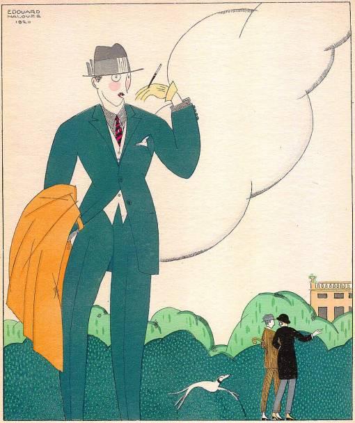 Homem no parque, edouard Halouze, 1920