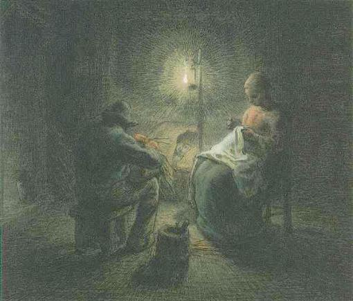 Jean-Francois Millet Night 1867 Fine Arts Museum, Boston