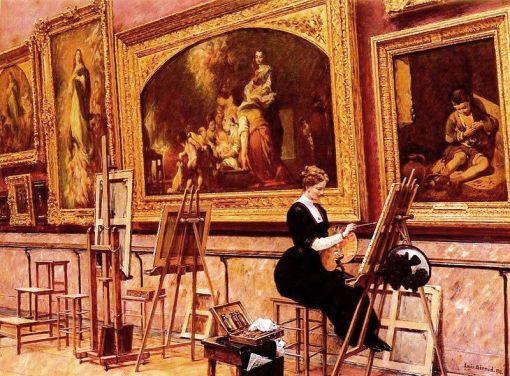 Louis_Beroud_-_peintre_copiant_un_Murillo_Au_Musee_Du_Louvre