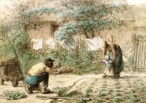 millet les premier pas 1853