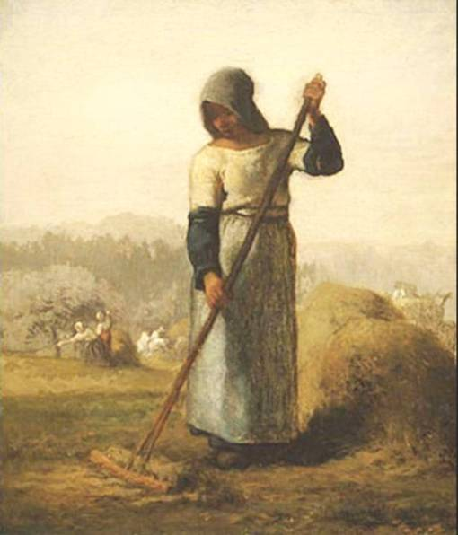 mullher com ancinho, millet1854