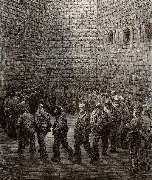 Newgate Prison Exercise Yard Gustave Dore