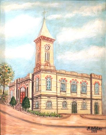 Alcides Ortolan, Igreja da Matriz em São Manuel, SP, 1983, ost