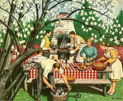 almoço ao ar livre, steven dohanos