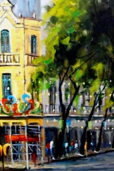 BOTELHO - Bar Flora - Rua da Carioca - ost - 61 x 46 - datado de 1990